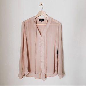 lulu's NWT dusty rose sheer top